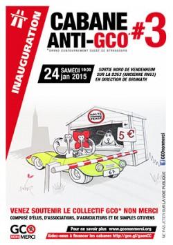 """Inauguration de la cabane #3 à Vendenheim - 24 janvier 2015 Lancement du livret """"10 solutions pour faire sauter les bouchons"""