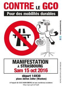 Manifestation contre le GCO @ Strasbourg | Strasbourg | Alsace-Champagne-Ardenne-Lorraine | France