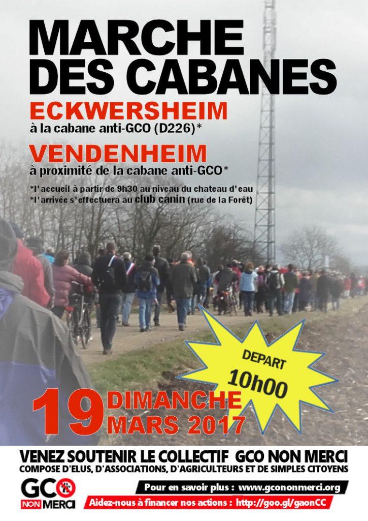Venez nombreux à la prochaine Marche des Cabanes le 19 mars 2017 entre Eckwersheim et Vendenheim !!