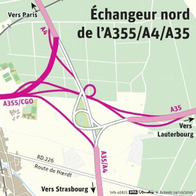 Echangeur Nord GCO - Vendenheim (document DNA)