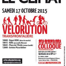 affiche vélorution / colloque - 17-10-2015