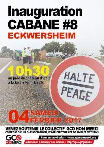 Inauguration cabane #8 anti-GCO