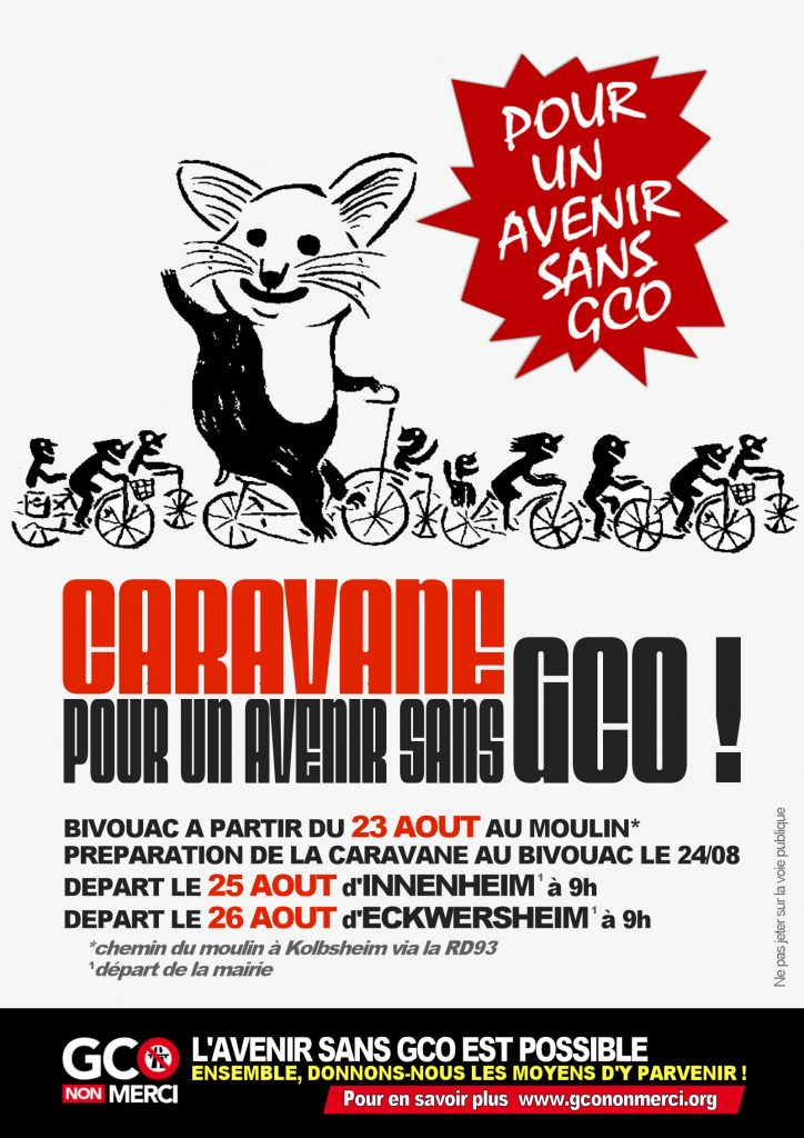 affiche « caravane pour un avenir sans GCO »