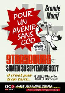 « Pour un avenir sans GCO » - 30 septembre 2017 à Strasbourg
