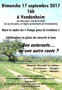 Dimanche 17 septembre - Célébration en plein air « Une autoroute ou une autre route... »