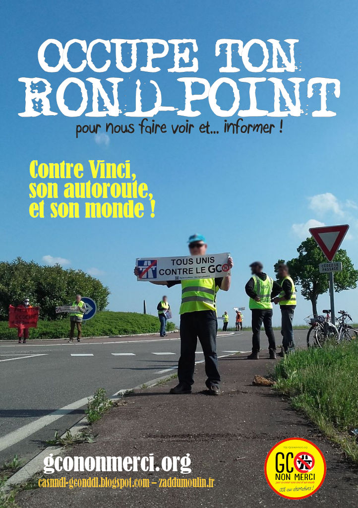 affiche occupe ton rond-point