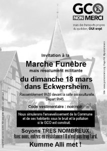 Eckwersheim : Marche Funèbre du 18 mars 2018 @ Salle Socio-culturelle   Eckwersheim   Grand Est   France