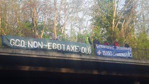 Action sur les ponts ! NON au couloir à camions du Nord au Sud de l'Alsace