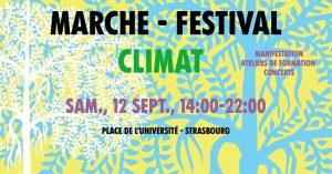 Marche et festival pour le climat @ Place de l'Université